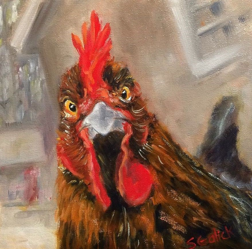 """Say Cheese"" original fine art by Susan Galick"