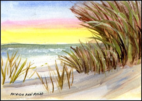 """Beach Day 2"" original fine art by Patricia Ann Rizzo"