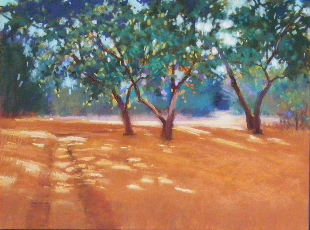 """""""Through the dappled light"""" original fine art by Celine K.  Yong"""