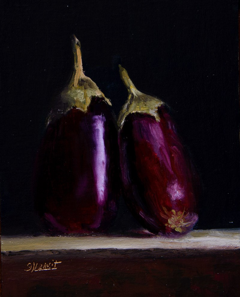 """Eggplants"" original fine art by Garry Kravit"