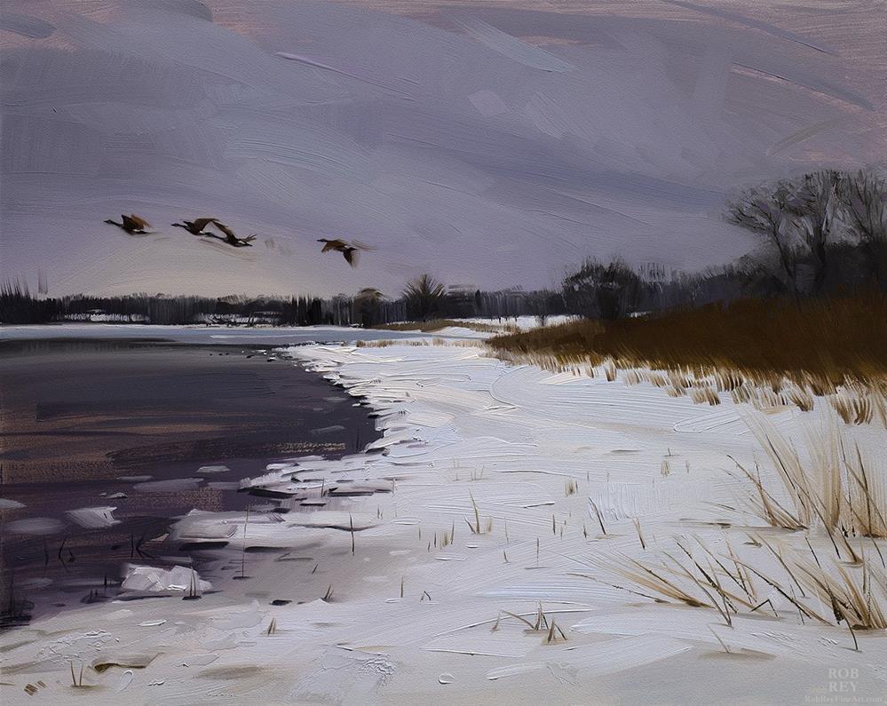 """Heading South"" original fine art by Rob  Rey"