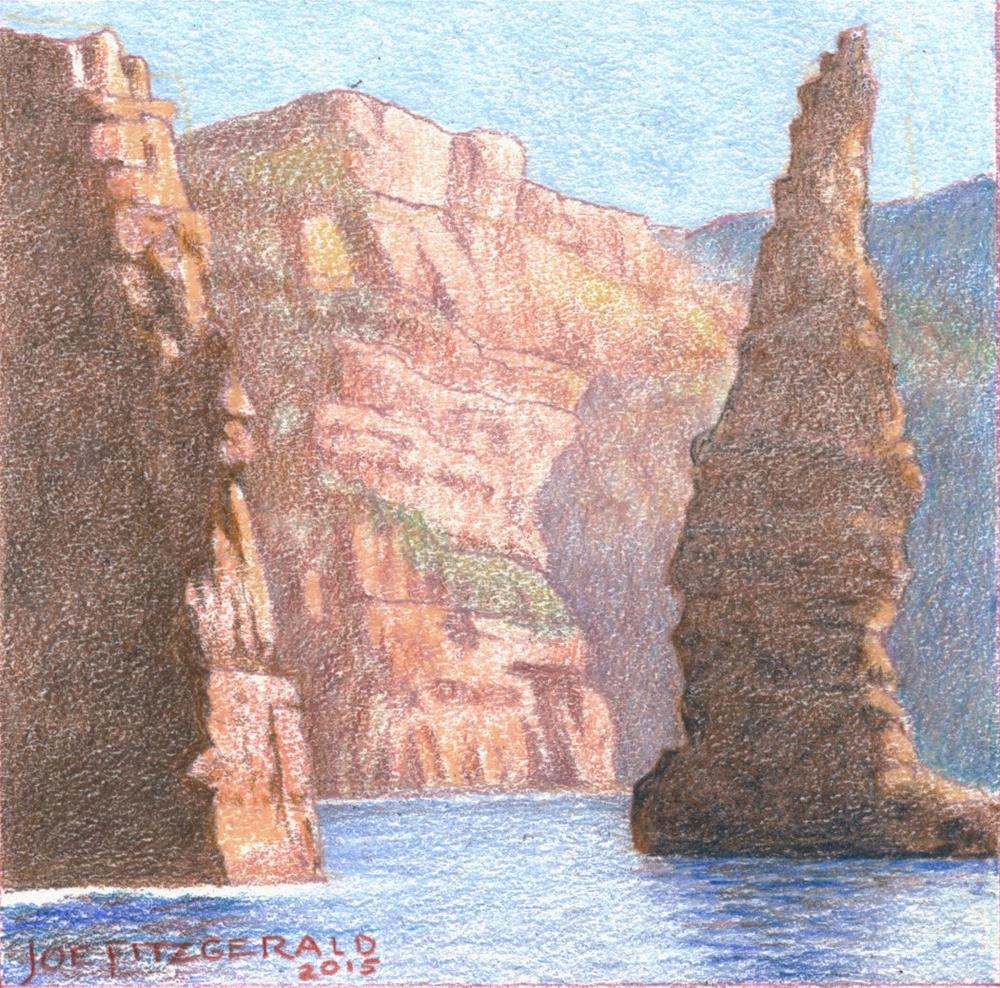 """Sailing Round Moher III"" original fine art by Joe Fitzgerald"