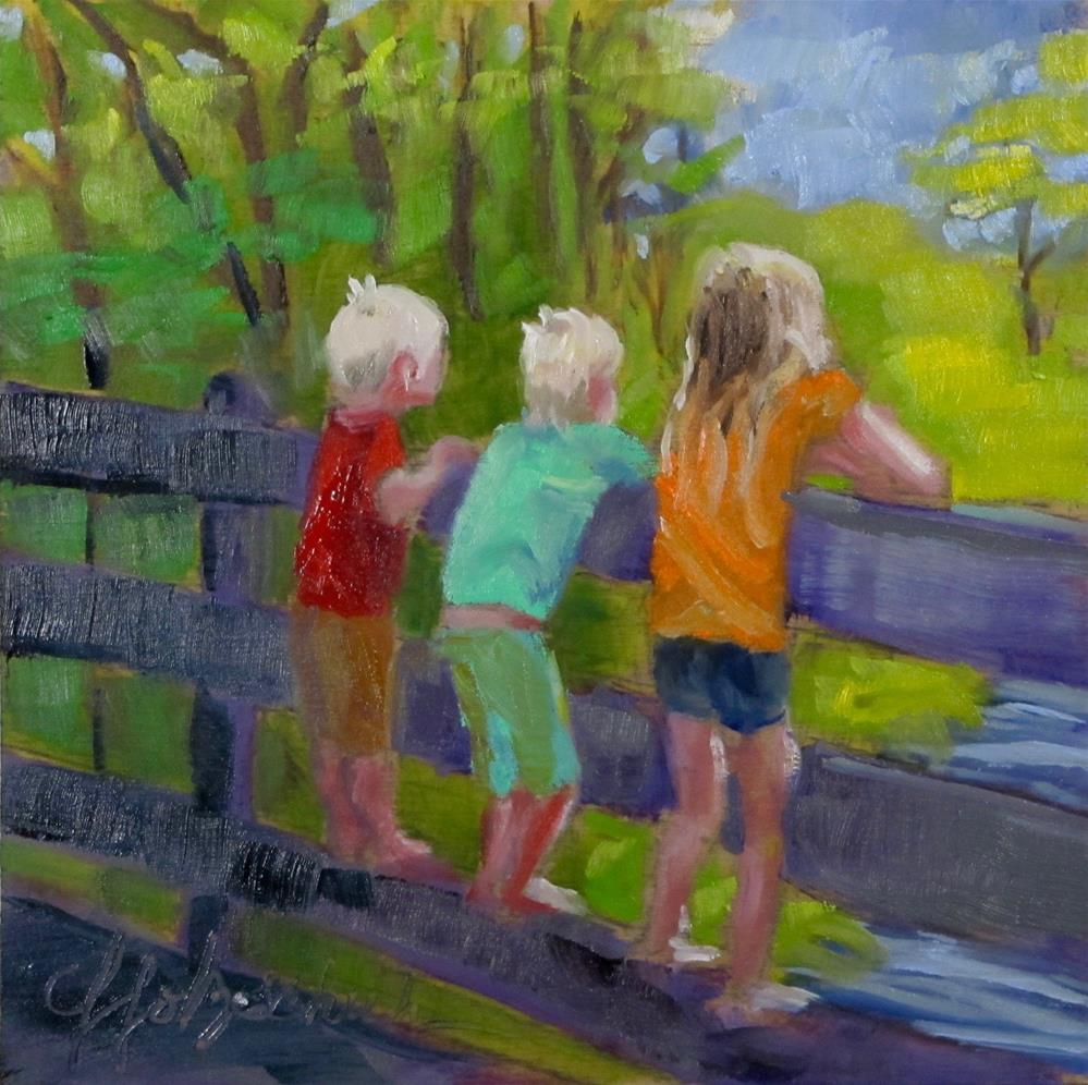 """View From the Bridge"" original fine art by Christine Holzschuh"