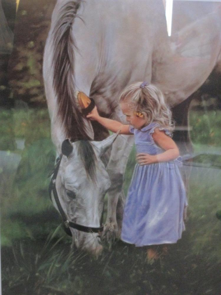 """Horse Happy"" original fine art by Barbara Wagner"
