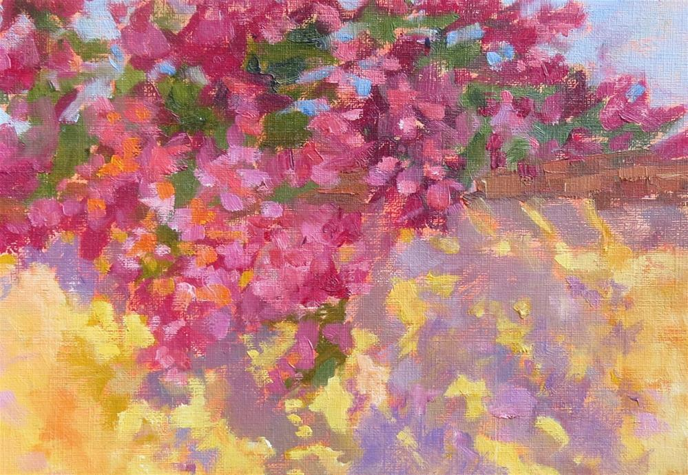 """Garden Wall"" original fine art by Pam Holnback"