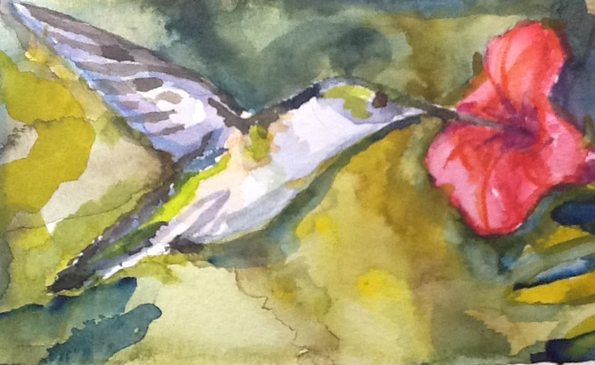 """Hummingbird"" original fine art by Jean Krueger"