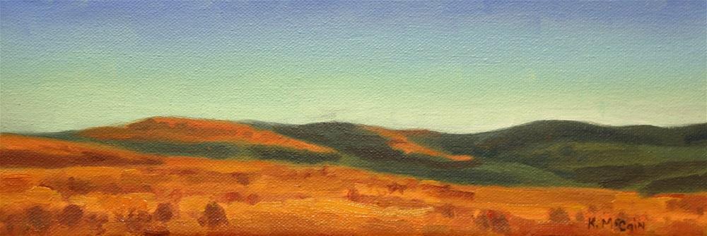 """Foothills by Evening Light"" original fine art by K.R. McCain"