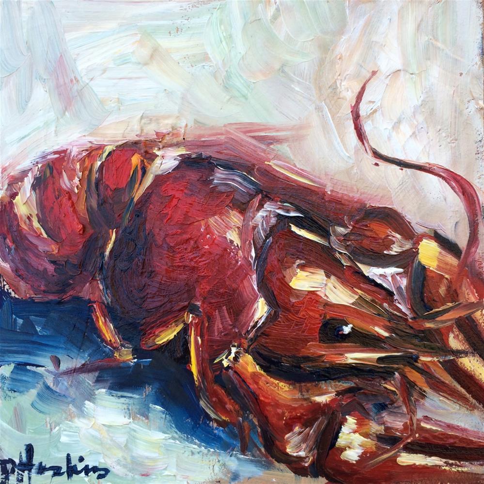 """Crawfish 1"" original fine art by Denise Hopkins"