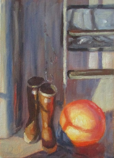 """Boots and Buoys"" original fine art by Christine Lewis"