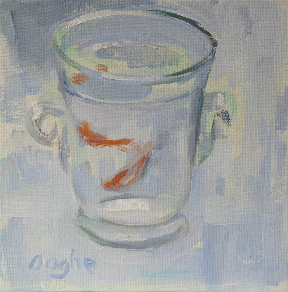"""Goldfish on White"" original fine art by Angela Ooghe"