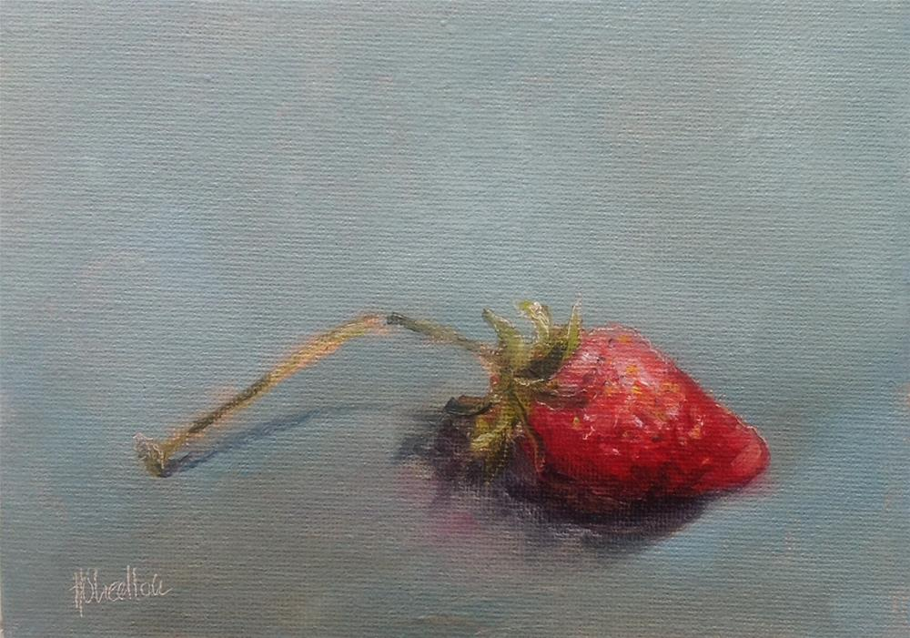 """Strawberries and cream"" original fine art by Heidi Shedlock"