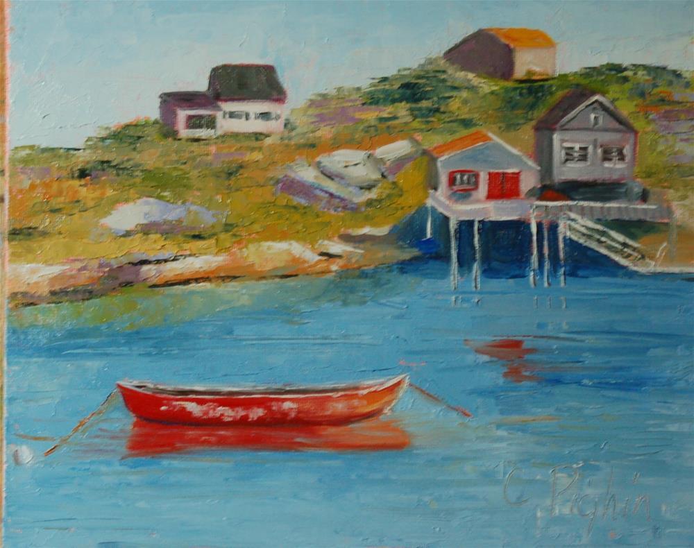 """Fish Village"" original fine art by Carol Pighin"