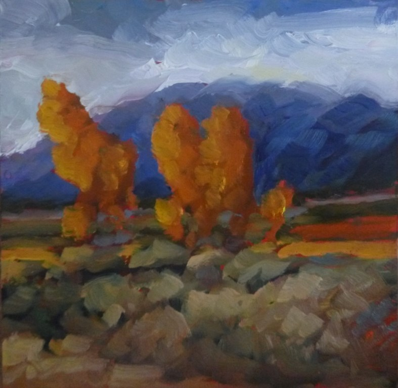 """40 TAOS MOUNTAINS"" original fine art by Dee Sanchez"