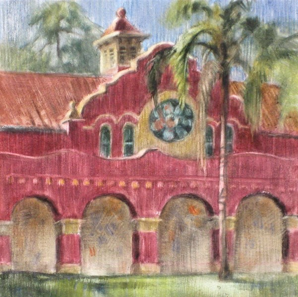 """Library Arches"" original fine art by Ginger Pena"