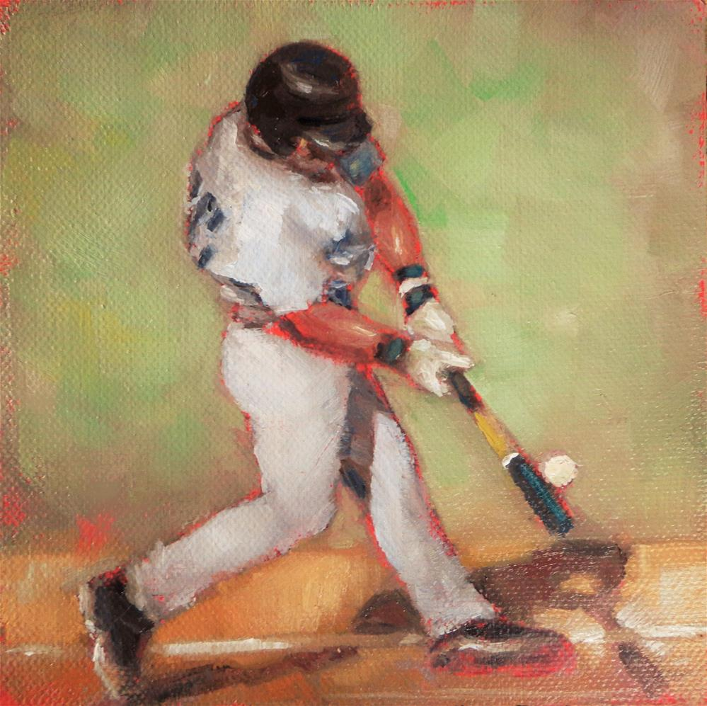 """Baseball player"" original fine art by Maria Z."
