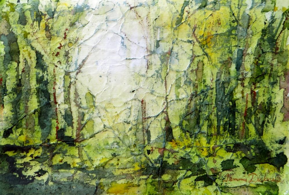 """Green Forest Batik"" original fine art by Tammie Dickerson"