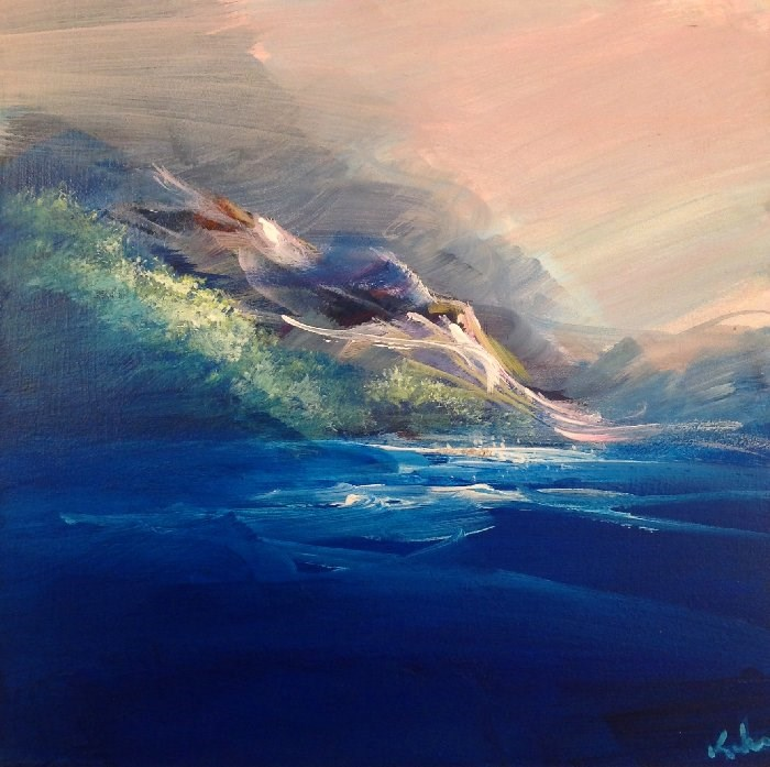 """Deepest Blue"" original fine art by David Kuhn"