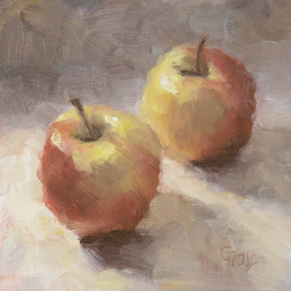 """Love Apples"" original fine art by Naomi Gray"