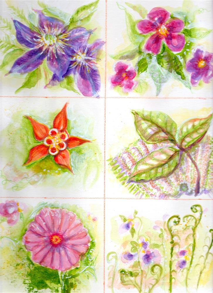 """Flower Studies"" original fine art by Karen Roncari"