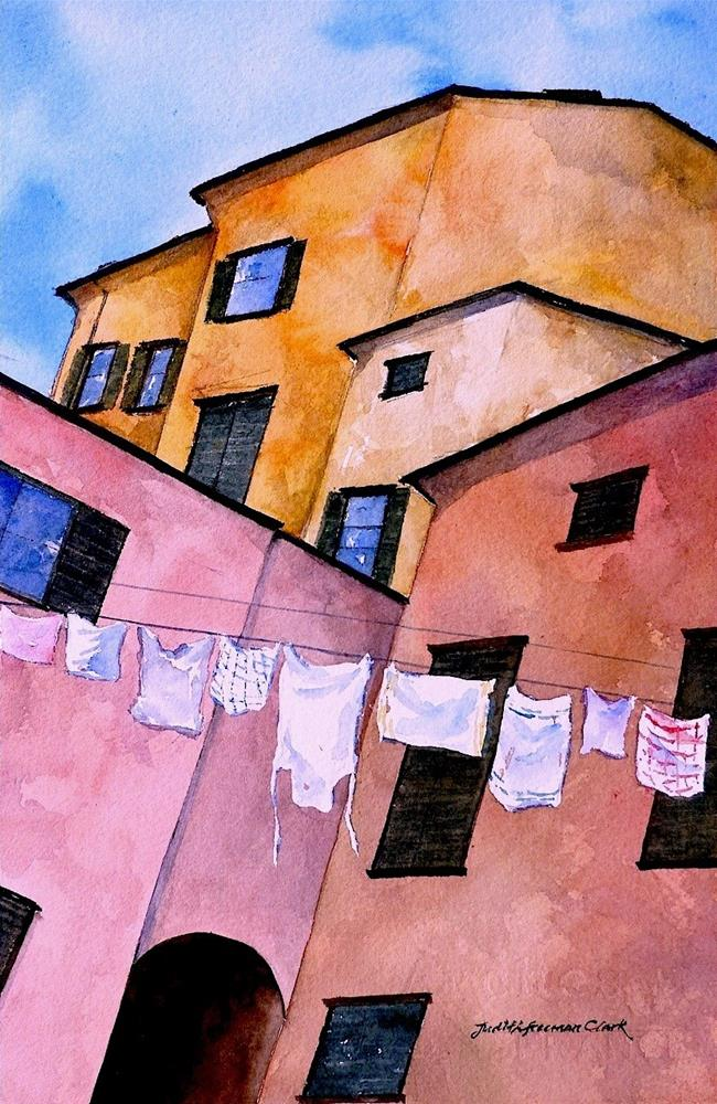 """Out to Dry, Camogli, Italy"" original fine art by Judith Freeman Clark"