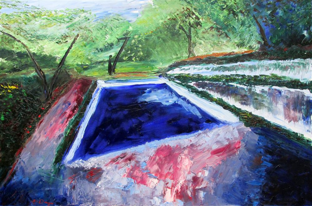 """Abandoned Swimming Pool"" original fine art by Will Dargie"