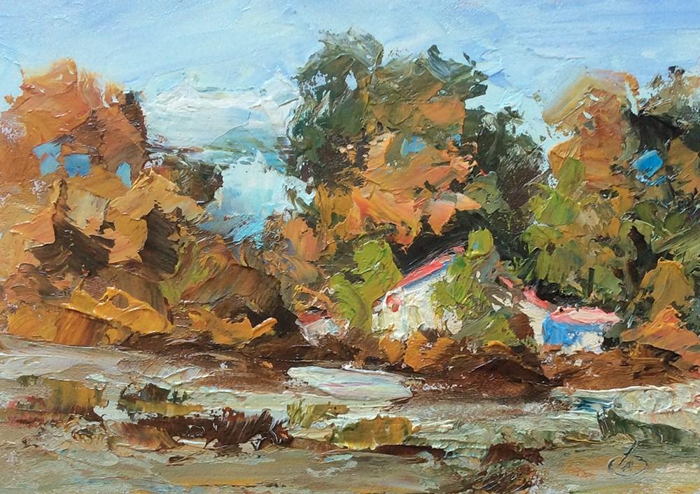 """""""HIDDEN AWAY"""" original fine art by Tom Brown"""
