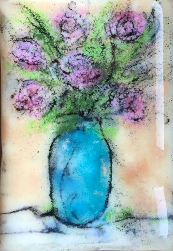 """""""Pink Roses"""" original fine art by Kristen Dukat"""