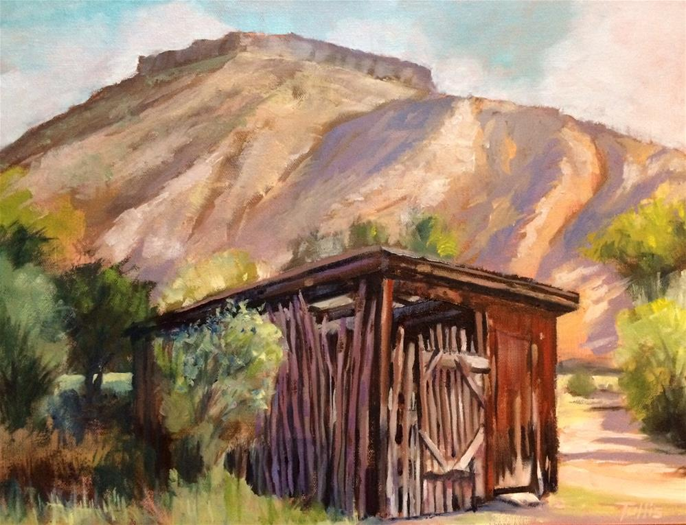 """Below the Mesa (Abiquiu, NM)"" original fine art by John Tullis"