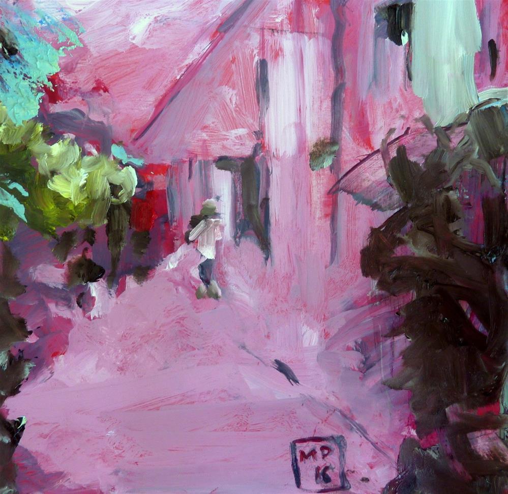 """hinter dem Haus / behind the house"" original fine art by Mila Plaickner"