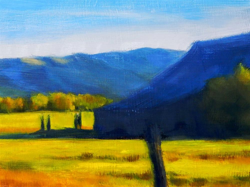 """Barn Shadows"" original fine art by Carolyn Caldwell"