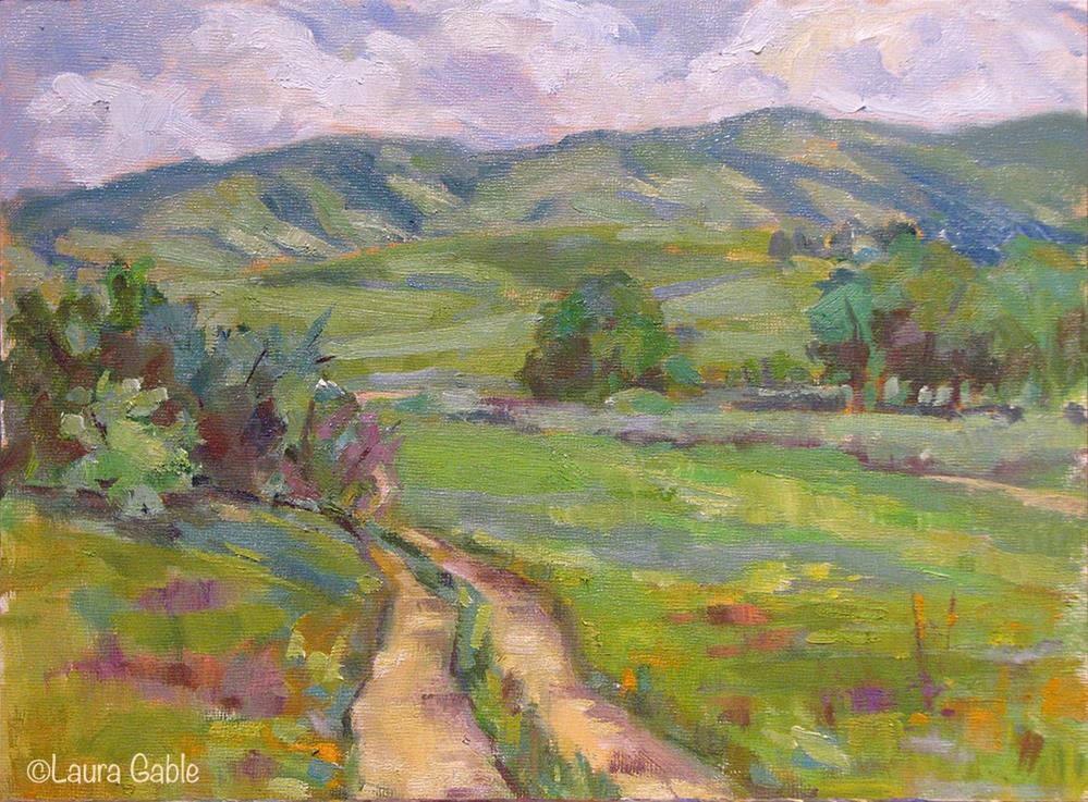 """Blue Mountain's Meadows"" original fine art by Laura Gable"