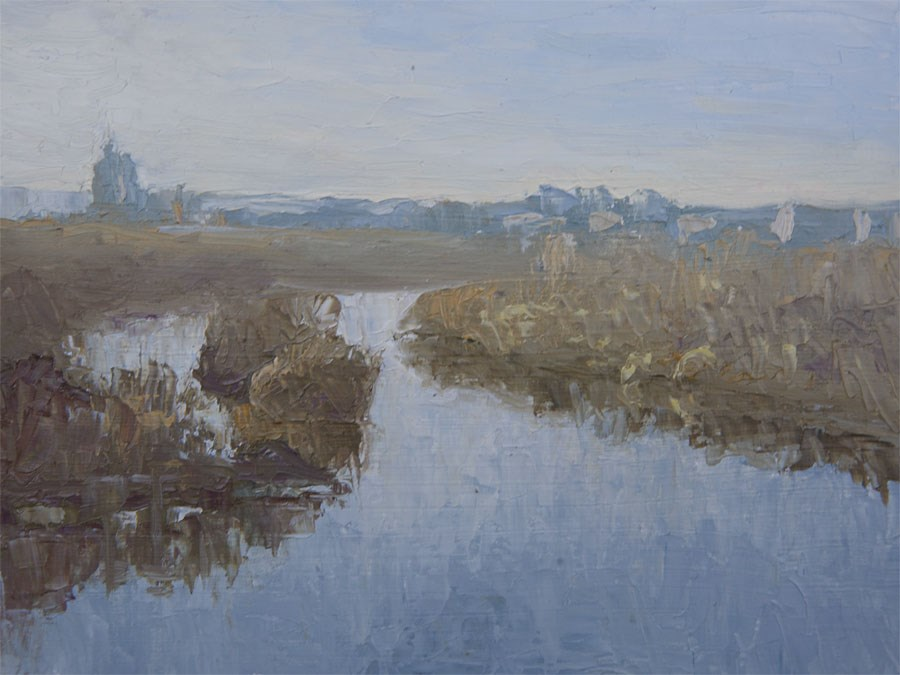 """River Confluence"" original fine art by Jethro Knight"