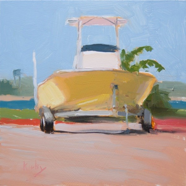 """At the Dock"" original fine art by Randall Cogburn"