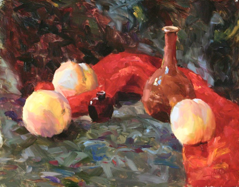 """Peaches"" original fine art by Scott Harding"
