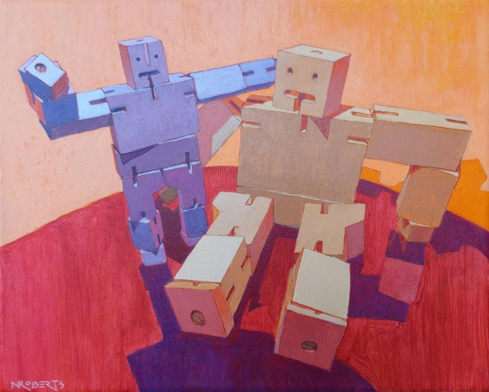 """Buddies"" original fine art by Nancy Roberts"