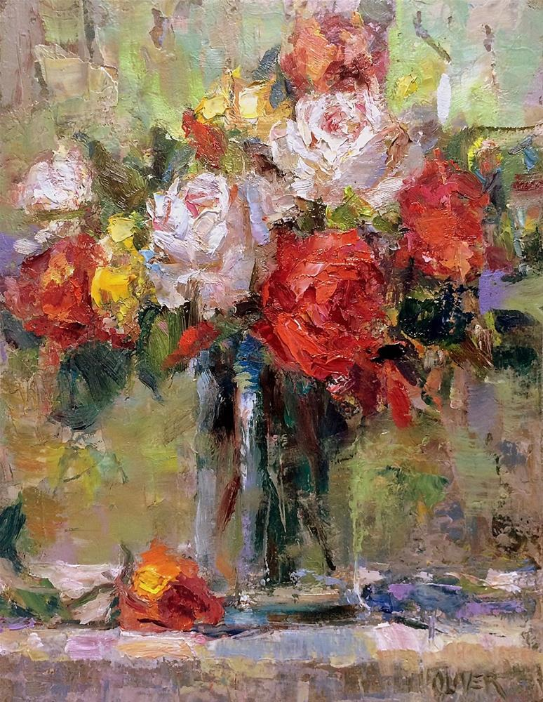 """Bouquet"" original fine art by Julie Ford Oliver"
