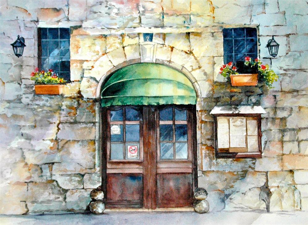 """""""L'Auberge"""" original fine art by Diane Fujimoto"""