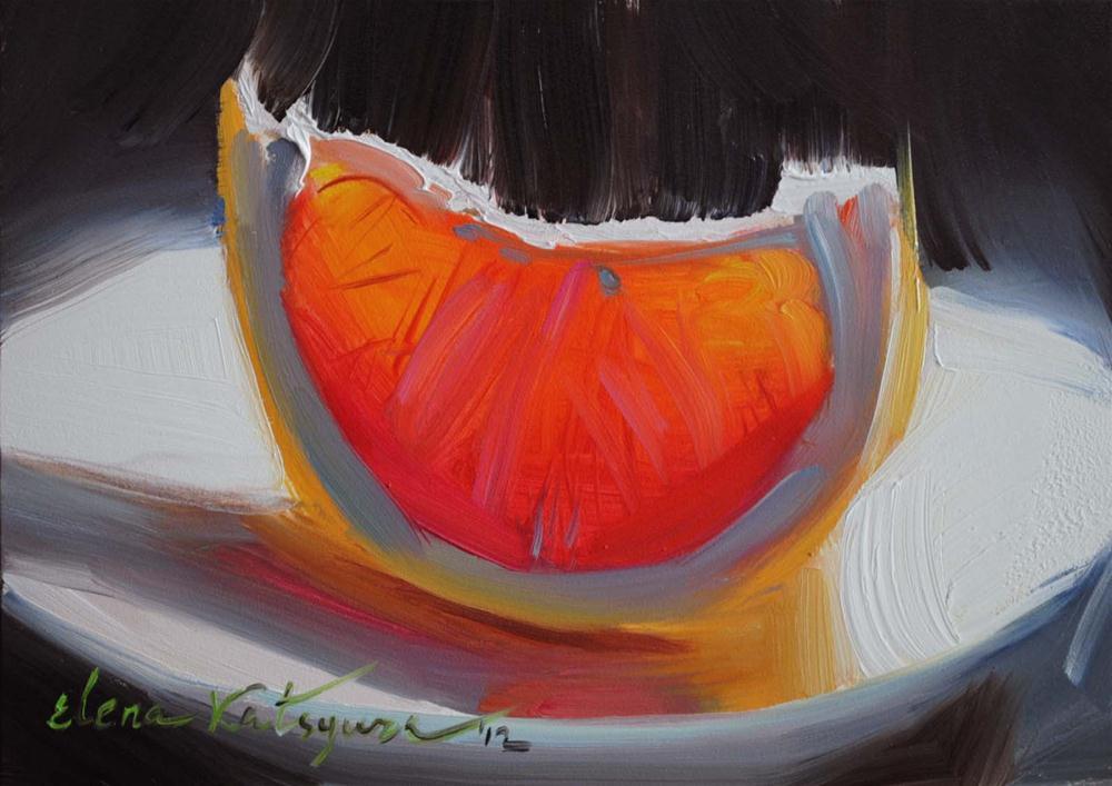 """Grapefruit Shine"" original fine art by Elena Katsyura"