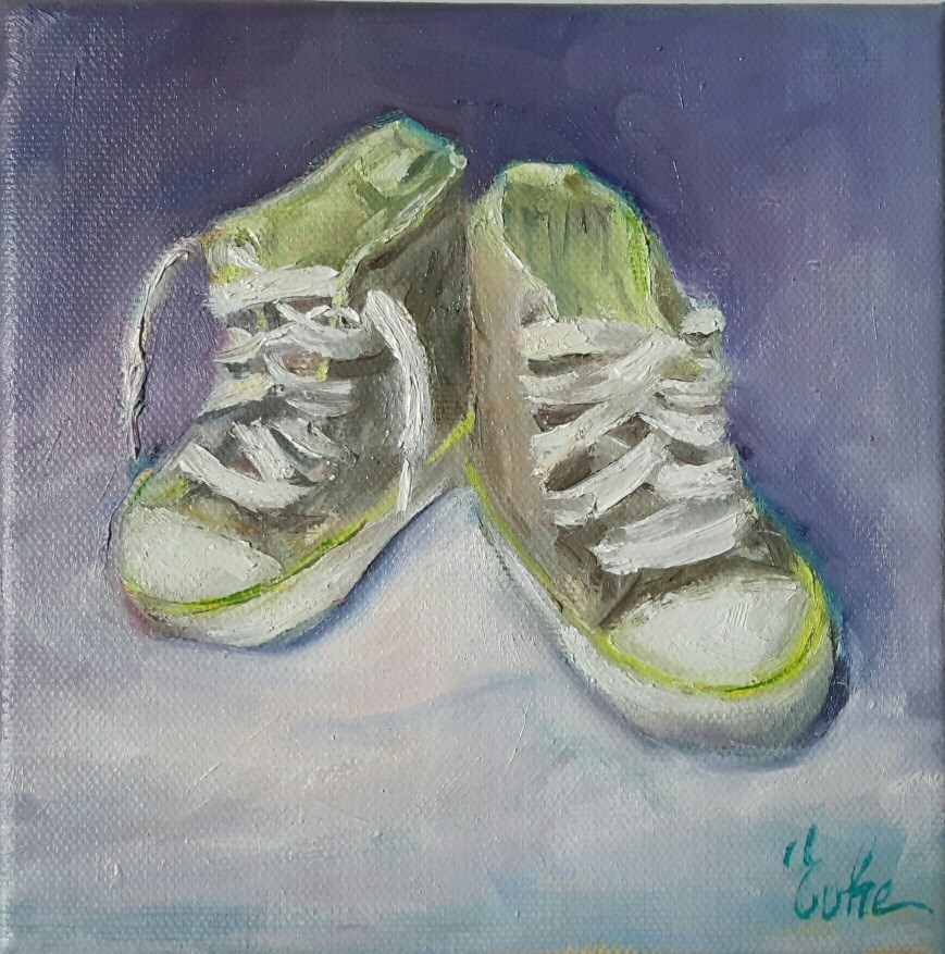 """Petites chaussures"" original fine art by Evelyne Heimburger Evhe"