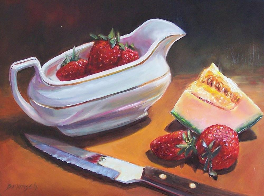 """Strawberry Boat"" original fine art by Donna Munsch"