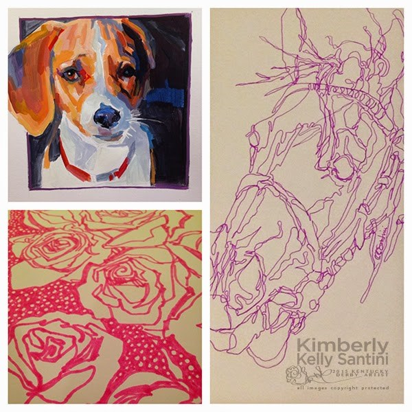 """Studio Happenings"" original fine art by Kimberly Santini"