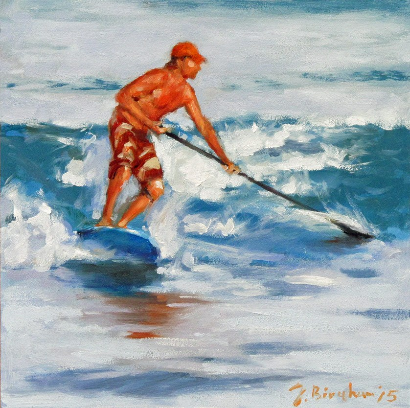 """Wave Rider"" original fine art by Joanna Bingham"