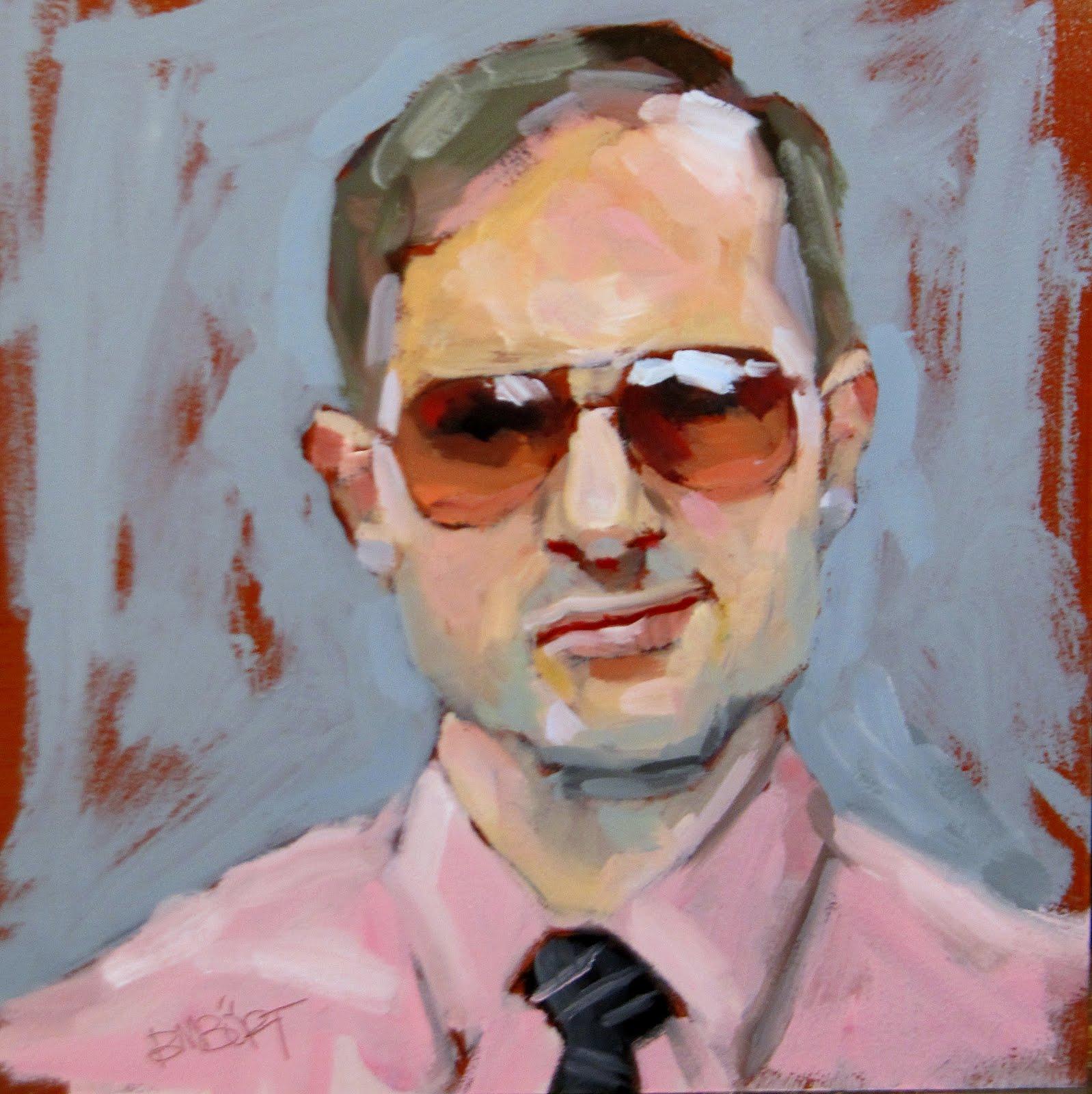 """ART 4 DIAPERS (DAILY DIAPER #179) Cocky"" original fine art by Brian Burt"