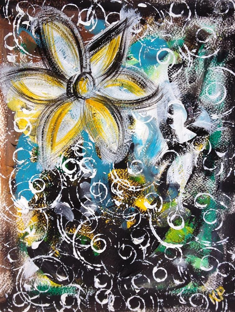 """Blooming Swirls"" original fine art by Kali Parsons"