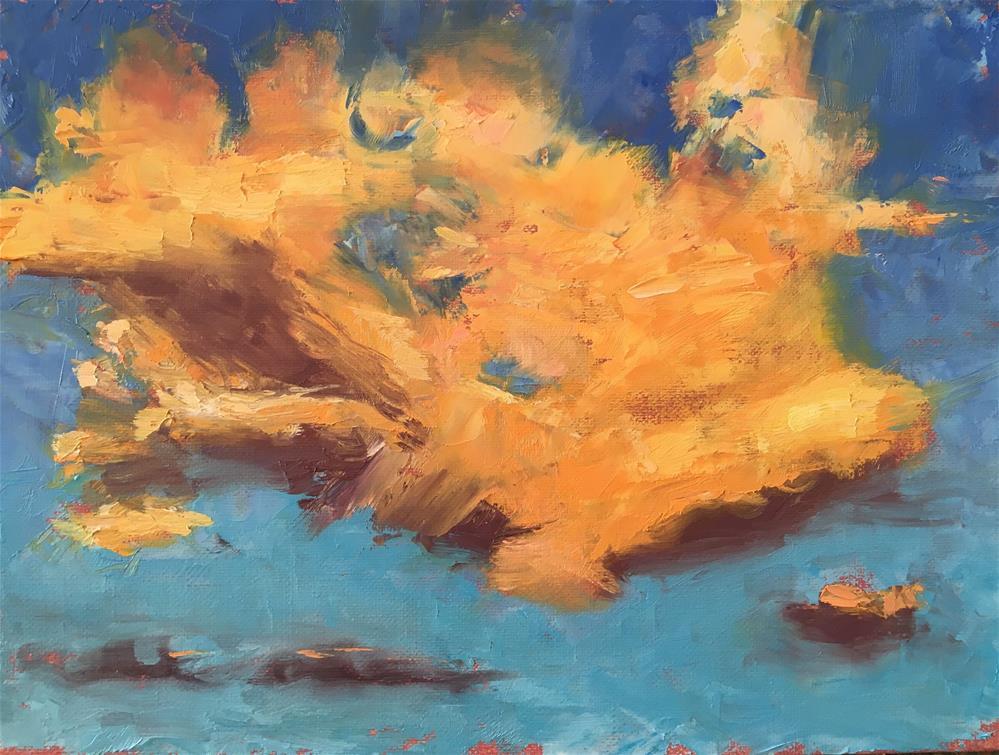 """Cloud Drama"" original fine art by Kaia Thomas"