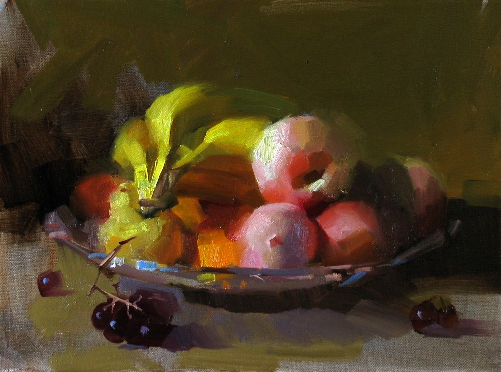 """On My Kitchen Counter"" original fine art by Qiang Huang"