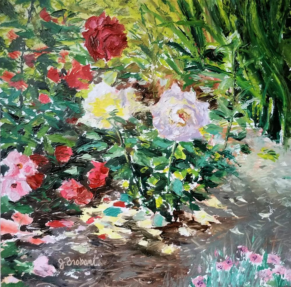 """Corner of my Garden"" original fine art by Jill Brabant"