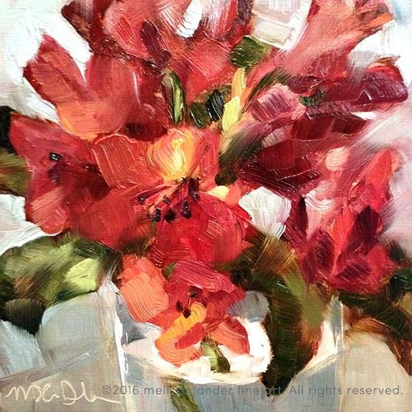 """""""Seeing Red"""" original fine art by Melissa Jander"""