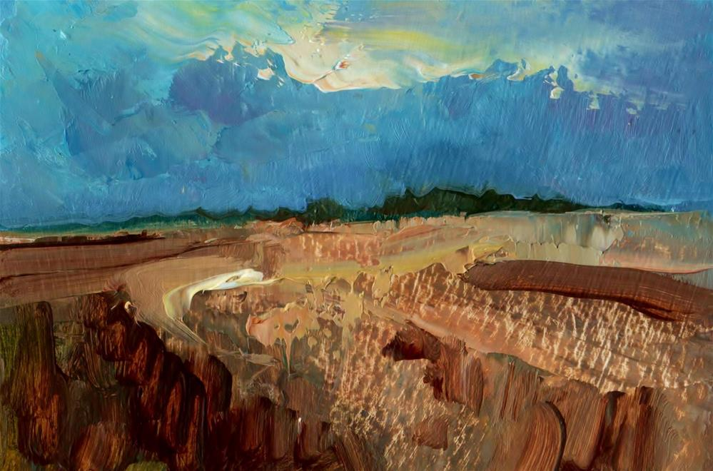"""Limestone Ridge"" original fine art by Anne Wood"