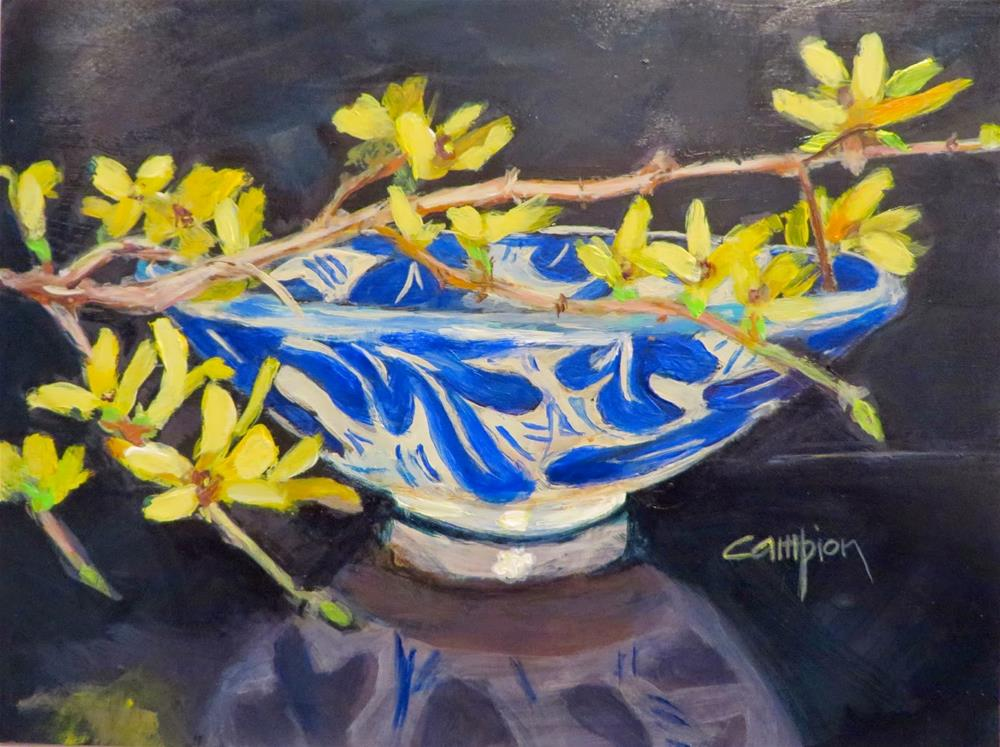 """591 Spring Has Sprung"" original fine art by Diane Campion"